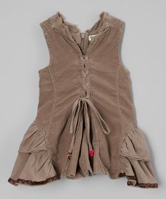 Look at this Eliane et Lena Chocolate Ruched Dress - Infant on #zulily today!