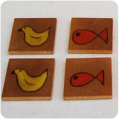 Easy-peasy DIY memory tiles toy made with reclaimed wood from www.make-baby-stuff.com