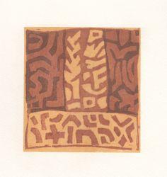 Ann Symes - Kuba 2. Japanese style woodblock print