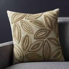 """Monika 18"""" Pillow with Down-Alternative Insert - Crate and Barrel"""