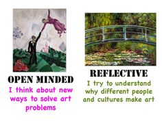 """Princess Artypants: PYP """"Learner Profile in art""""  She has posted a series of eight posters for art she has made based on IB's Learner Profile."""