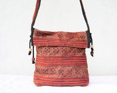 Vintage Antique Tribal Messenger Bag Cross Body Bag by TaTonYon, $18.00