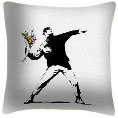 famous Banksy painting work creative boy with red flower home decal wall stickers drawing room decor mural art sticker Banksy Paintings, Protect Family, Banksy, Graffiti, Buy Art, Drawings, Worlds Of Fun, Sticker Art, Art