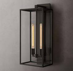 Modern Exterior Lighting, Modern Lighting, Lighting Ideas, House Lighting, Outdoor Sconces, Outdoor Lighting, Feng Shui, Classic Lanterns, Storage Mirror