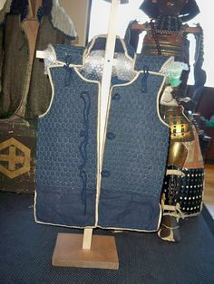Japanese (samurai) Edo period kikko vest. Kikko is the Japanese form of brigandine. Kikko is made from iron or leather hexagon plates sewn to cloth, the kikko can be covered with cloth of left exposed.
