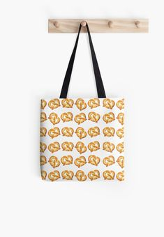 d951aaafc458 Watercolor Pretzel Party Pattern by Erika Lancaster on Tote Bags   redbubble- Different sizes available.