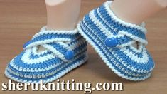 Crocheted  Baby Slippers Tutorial 288 Crochet For Baby