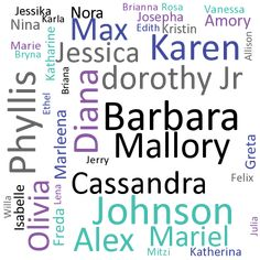 12 baby names for an evil girl, which go with Johnson | Name Generator