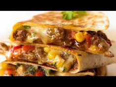 Quesadilla (Beef, Vegetable or Chicken) Crispy golden on the outside, molten cheesy goodness on the inside. Choose from THREE Quesadilla Mexican Dishes, Mexican Food Recipes, Dinner Recipes, Milk Recipes, Mexican Spice, Vegetarian Quesadilla, Best Quesadilla Recipe, Recipe For Quesadillas, Grilled Quesadilla Recipes