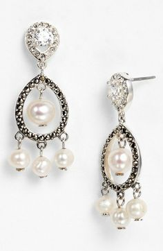 Judith Jack 'Pearlette' Drop Earrings available at #Nordstrom