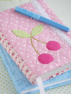 Fabric covered notebook by Pretty by Hand