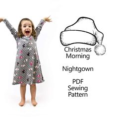 Sew a Baby/Toddler Nightgown with this easy Sewing Pattern. I love giving my girls nightgowns! Now you can make your baby or toddler an adorable nightgown with this Baby Nightgown Sewing Pattern and t
