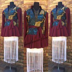 Ankara Peplum Jacket with Fringe Skirt #SunshowerLove