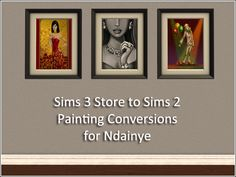 simlish   Sims 3 Store Painting Conversions for Ndainye