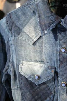 S/S 15: Denim by Première Vision top 5 pattern trends pattern trends- indigo plaid