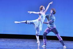 "Evgenia Obraztsova and Semion Chudin rehearsing for ""Tchaikovsky Pas de Deux"""