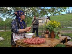 The Best Homemade Pasta With Meatballs, Köftəli Makaron, Outdoor Cooking - YouTube Pasta Casera, Rocket Stoves, Homemade Pasta, Outdoor Cooking, You Are The Father, Youtube, Good Things, Country Life, Travel Videos