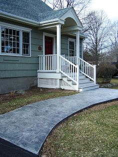 New front porch and walkway