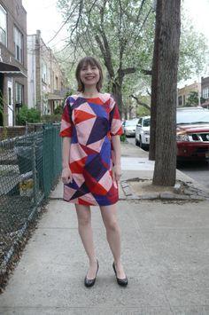 Colette Laurel dress in Marc Jacobs silk from #MoodFabrics   Ginger Makes