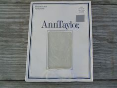 Vintage Ann Taylor Ribbon Lace Pantyhose  Nylons Long Ivory Made in England Sz L #AnnTaylor #Cocktail