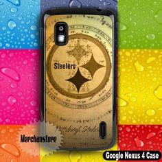 Vintage Pittsburgh Steelers NFL Team Logo Google Nexus 4 Case