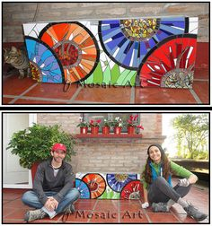 by Fernanda Jaton Mosaic Pots, Mosaic Wall Art, Mosaic Glass, Mosaic Tiles, Glass Art, Mosaic Crafts, Mosaic Projects, Mosaic Designs, Mosaic Patterns