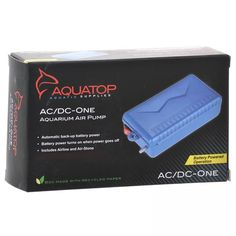 Aquatop AC/DC Battery Operated Air Pump is a reliable, portable backup oxygen source for your fish tank during an AC power failure, and is an ideal aeration solution for fish in transit. Keep it on hand to make sure your fish always have the air they need