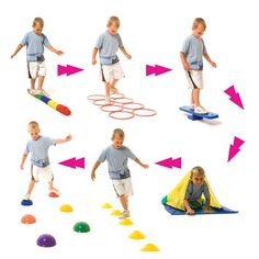 Buy Six Station Trim Trail from our Physical Development range - @ Early Years Resources Gross Motor Activities, Gross Motor Skills, Sensory Activities, Pe Games, Games For Kids, Activities For Kids, Physical Development, Physical Education, Obstical Course For Kids