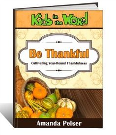 "The book is all about teaching our kids gratitude. This is not just a ""thankfulness"" journal — it is a full study of what it means to be grateful. Daily readings help you discuss different concepts and Scriptures with your kids and then have them write or draw about the topic."