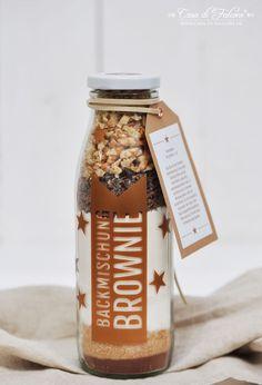 Backmischung Brownies {Rezept} & Verpackungsidee I brownie mix in a jar {german recipe} I Geschenke aus der Küche I homemade gift I Casa di Falcone