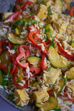 Tofu z warzywami i ryżem - przepis na obiad bez mięsa Tofu, Kung Pao Chicken, Cooking, Ethnic Recipes, Diet, Kitchen, Brewing, Cuisine, Cook