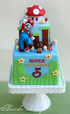 Mario cake - How awesome is this for the boys??