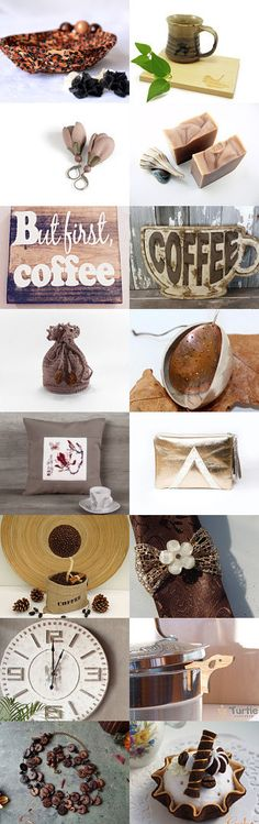 But first, Coffee by Andrea Dawn on Etsy-- Lovely Etsy Treasury with unique handmade gifts.... Lovely coiled basket bowl... Pinned+with+TreasuryPin.com