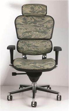 Love hunting, but stuck at the office all day? This Ergohuman chair is the answer! Its comfortable and has the looks all in one!  http://www.crownfurniture.com/ Call our Tulsa showroom for more info!  918-663-6704