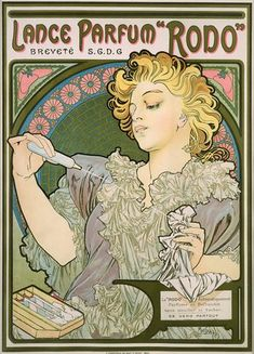 Mucha Lance Parfum French Poster Framed Wall Art — MUSEUM OUTLETS