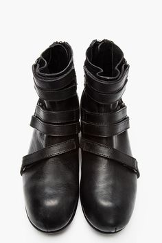 2eeaa90bc258 The Best Men s Shoes And Footwear   JULIUS Black leather strap high-top  boots