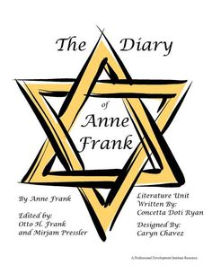 the diary of anne frank unit memoir study literature guide  literature unit by the professional development institute for the diary of anne frank