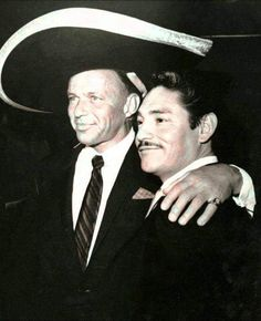 Frank Sinatra and mexican singer Javier Solis : pics