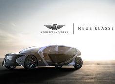neue klasse, concept car, ying hern pow, futuristic  concept car, futuristic car