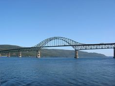 The Seal Island Bridge is an arch truss bridge crossing the Great Bras d'Or channel of Bras d'Or Lake in Victoria County on Nova Scotia's Cape Breton Island