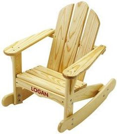Adirondack Rocking Chair Kids Chairs Toddler Pine Wood Children Indoor Outdoor Product Description: With the tip over bumpers and rounded edges increase safety for children, this pastoral and handsome Adirondack Rocking Chair, Rocking Chair Plans, Adirondack Chair Plans, Rocking Chairs, Rustic Furniture, Kids Furniture, Outdoor Furniture, Furniture Design, Furniture Online