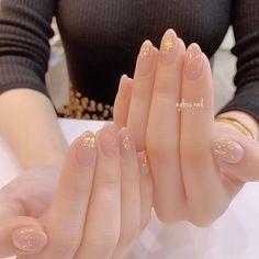 Spring / Summer / Fall / Winter / hand - agloss nail of nail design Korean Nail Art, Korean Nails, Asian Nail Art, Elegant Nails, Stylish Nails, Fancy Nails, Pretty Nails, Asian Nails, Acryl Nails