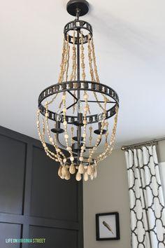 diy wood bead chandelier tutorial, Life on Virginia Street on Remodelaholic