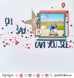 Paper Issues: Take 5 Tuesday Challenge - July! Scrapbook Pages, Scrapbooking Layouts, Fourth Of July, Mini Albums, Cool Designs, Card Making, Challenges, Joy, Canning