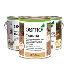 Our range of Decking, Cladding, Outdoor Furniture and Exterior Finishes from the OSMO range. Buy securely online, we're based in Melbourne and ship all over Australia. Teak Oil, Cubby Houses, Natural Wood Finish, Naturally Beautiful, Cladding, Safe Food, Coffee Cans, Interior And Exterior