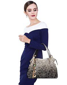 272f869a685bca Coofit Damen Handtasche Umhängetasche Mode Tasche Jahrgang Schultertasche  Geldbörse für Frauen  Amazon.de