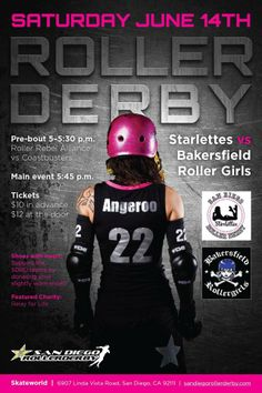 SDRD Starlettes vs Bakersfield Roller Girls  @ Skateworld in Linda Vista.