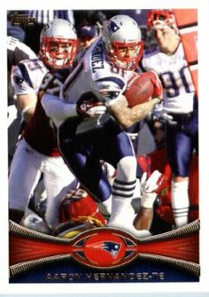 2012 Topps Football Card # 323 Aaron Hernandez - New England Patriots (NFL Trading Card) by Topps. $4.30. Look for thousands of other great sportscards of your favorite player or team. NOTE: Stock Photo Used. Contact seller if there is no image or you have questions. Card shipped in Top Load and/or Soft sleeve to protect it during shipping. Single 2012 Topps Football Trading Card. Card is in MINT condition!. 2012 Topps Football Card # 323 Aaron Hernandez - New England Patriots (...