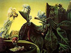 La ninfa Eco (1936) de Max Ernst. La naturaleza de Max Ernst aparece no solo hostil sino también en proceso de degradación...  información sacada de www.pinturayartistas.com