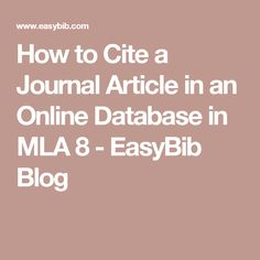 easybib online article